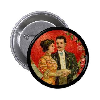 Vintage Romantic Couple Valentine Button