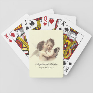 Vintage Romantic First Kiss Playing Cards
