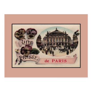 Vintage romantic greetings from Paris Opera Postcard