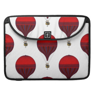 Vintage Romantic Hot Air Balloons in Red and Blue MacBook Pro Sleeves