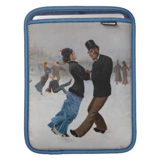 Vintage Romantic Ice Skaters Sleeves For iPads