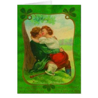 Vintage Romantic Irish Couple St Patrick's Day Card