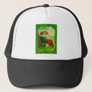 Vintage Romantic Irish Couple St Patrick's Day Trucker Hat