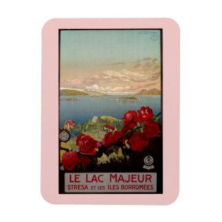 Vintage romantic Lake Maggiore Italian Travel Rectangular Photo Magnet