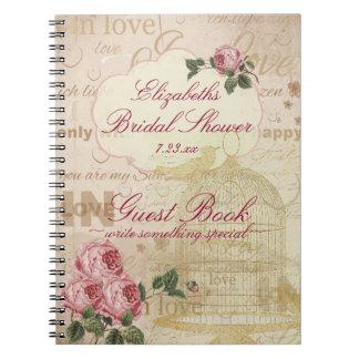 Vintage Romantic Love Bridal Shower Guest Book |