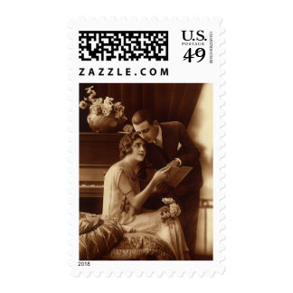 Vintage Romantic Music, Love and Romance Lovers Stamps