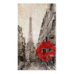 Vintage Romantic Paris Eiffel Tower Business Card Template