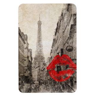 Vintage Romantic Paris Eiffel Tower Rectangular Magnets