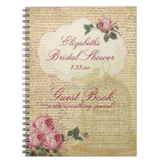 Vintage Romantic Roses Bridal Shower Guest Book |