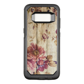 Vintage Romantic Roses on Wood OtterBox Commuter Samsung Galaxy S8 Case