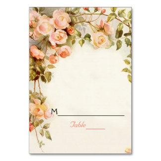 Vintage romantic roses wedding place card