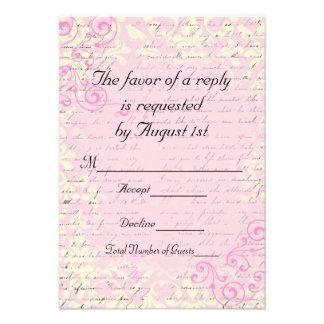 Vintage Romantic RSVP Wedding Cards