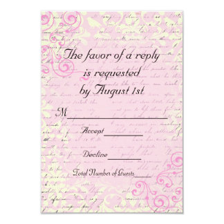 Vintage Romantic RSVP Wedding Cards Custom Announcements