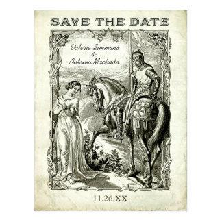 Vintage Romantic Save the Date Postcards Postcards