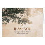 Vintage romantic thank you card with old tree