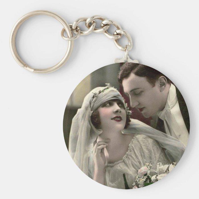 Vintage Romantic Wedding Keychain
