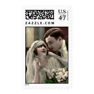 Vintage Romantic Wedding Postage