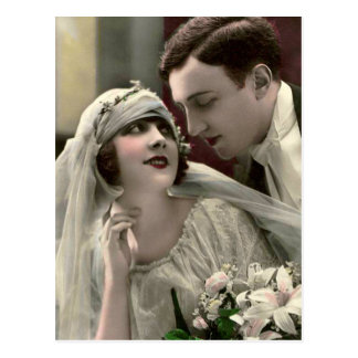 Vintage Romantic Wedding Post Card