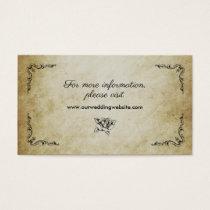 Vintage romantic wedding website card