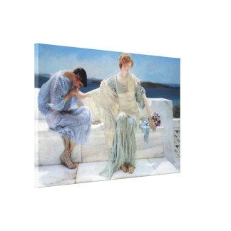 Vintage Romanticism, Ask Me No More by Alma Tadema Canvas Print