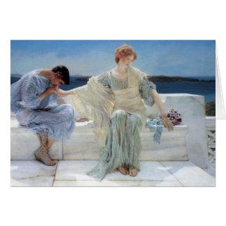 Vintage Romanticism, Ask Me No More by Alma Tadema Card