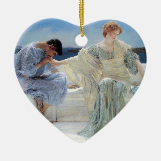 Vintage Romanticism, Ask Me No More by Alma Tadema Ceramic Ornament