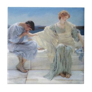 Vintage Romanticism, Ask Me No More by Alma Tadema Ceramic Tile