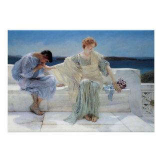 Vintage Romanticism, Ask Me No More by Alma Tadema Poster