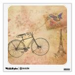 Vintage romántico París en collage de la primavera