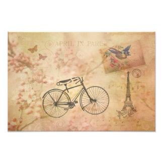 Vintage romántico París en collage de la primavera Fotografía