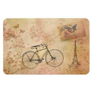 Vintage romántico París en collage de la primavera Rectangle Magnet
