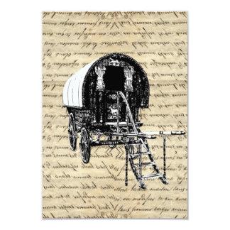 Vintage Romany Gypsy wagon Card