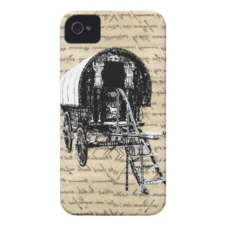 Vintage romany gypsy wagon Case-Mate iPhone 4 case
