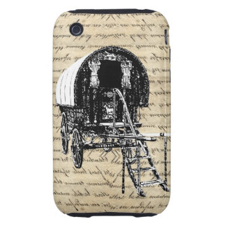 Vintage romany gypsy wagon iPhone 3 tough cover