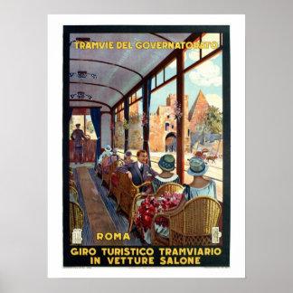 Vintage Rome 1920s Italian travel Poster