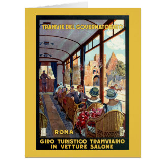 Vintage Rome 1920s Italian travel poster Greeting Card