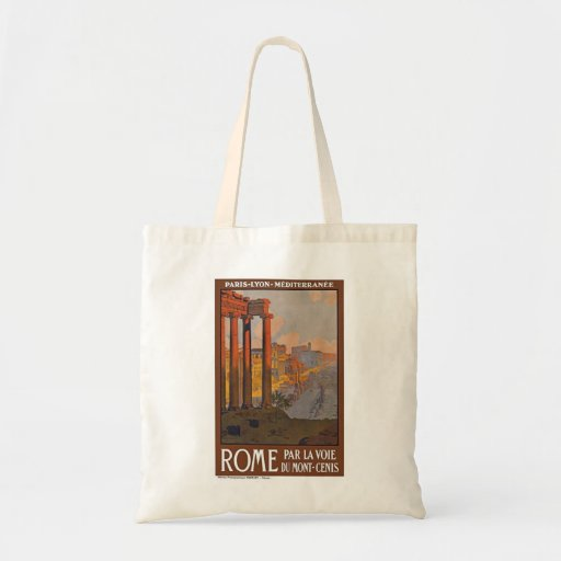 Vintage Rome Italy Budget Tote Bag