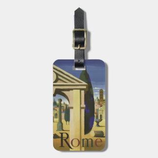 Vintage Rome Italy custom luggage tag