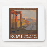 Vintage Rome Italy Mouse Pad