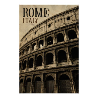 vintage rome italy poster
