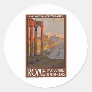 Vintage Rome Italy Round Sticker