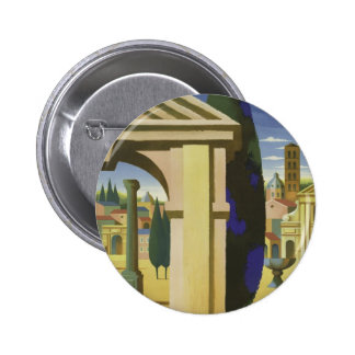 Vintage Rome Travel Pinback Button