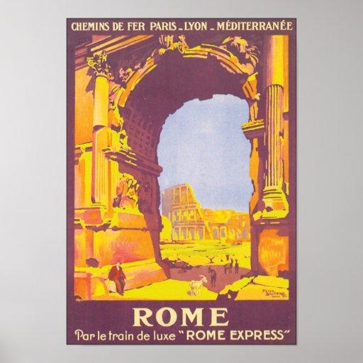 Vintage Rome Travel Poster