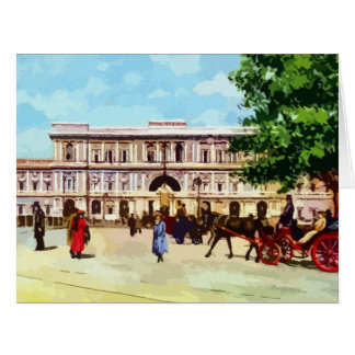 Vintage Rome watercolor palace of justice Large Greeting Card