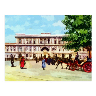 Vintage Rome watercolor palace of justice Postcard
