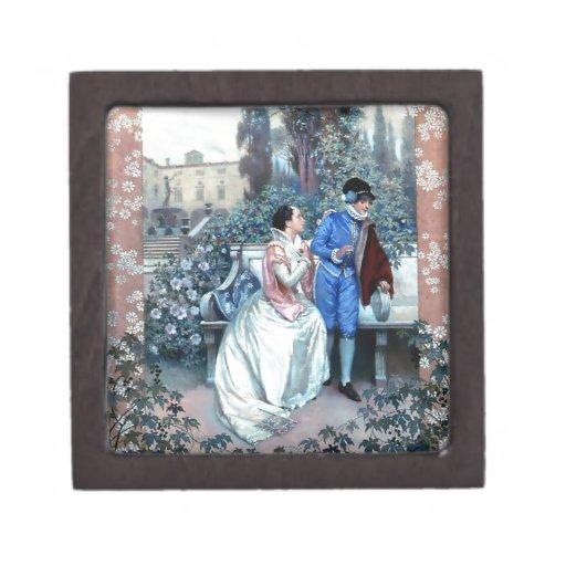 Vintage Romeo and Juliet poster Premium Trinket Box