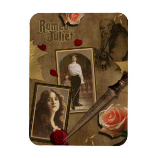Vintage Romeo and Juliet Scrapbook Magnet