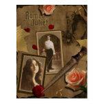 Vintage Romeo y postal del libro de recuerdos de J