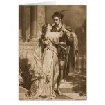 Vintage Romeo y tarjeta del el día de San Valentín