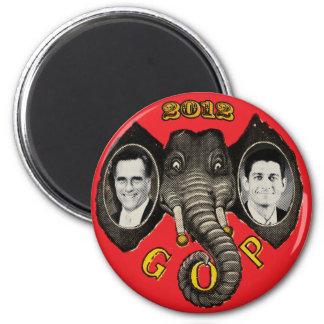 Vintage Romney Ryan 2012 Imán Redondo 5 Cm